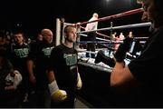 15 November 2014; John Joe Nevin makes his way to the ring ahead of his bout with Jack Heath. Return of The Mack, 3Arena, Dublin. Picture credit: Ramsey Cardy / SPORTSFILE