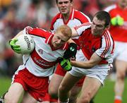 8 July 2007; Colin Devlin, Derry, in action against Brendan Donaghy, Armagh. Bank of Ireland All-Ireland Senior Football Championship Qualifier, Round 1, Armagh v Derry, St Tighearnach's Park, Clones, Co. Monaghan. Picture credit: Oliver McVeigh / SPORTSFILE