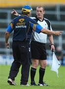 14 July 2007; Tipperary manager Michael Babs Keating remonstrates with linesman Anthony Stapleton during the first half. Guinness All-Ireland Hurling Championship Qualifier, Group B, Tipperary v Cork, Semple Stadium, Thurles, Co. Tipperary. Picture credit: Brendan Moran / SPORTSFILE