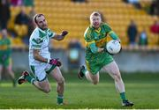 23 November 2014; Niall Darby, Rhode, in action against Kevin Murnaghan, Moorefield. AIB Leinster GAA Football Senior Club Championship Semi-Final, Rhode v Moorefield. O'Connor Park, Tullamore, Co. Offaly. Picture credit: Matt Browne / SPORTSFILE