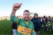 23 November 2014; Niall Darby, Rhode, celebrates after the final whistle. AIB Leinster GAA Football Senior Club Championship Semi-Final, Rhode v Moorefield. O'Connor Park, Tullamore, Co. Offaly. Picture credit: Matt Browne / SPORTSFILE
