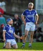 23 November 2014; Cratloe's Padraic Collins, left, and Conor McGrath, react after a refereeing decision went against them. AIB Munster GAA Hurling Senior Club Championship Final, Kilmallock v Cratloe. Gaelic Grounds, Limerick. Picture credit: Diarmuid Greene / SPORTSFILE