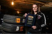 26 November 2014; Carol Breen, Wexford Youths, who received the Continental Tyres Player of the Month award for October. Top Tyres, Ardcavan, Co. Wexford. Picture credit: David Maher / SPORTSFILE