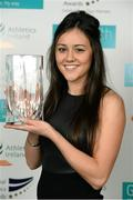 26 November 2014; Christine McMahon who won the Emerging Athlete of the Year award at the National Athletics Awards. Crowne Plaza Hotel, Santry, Co. Dublin. Picture credit: Barry Cregg / SPORTSFILE