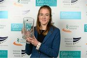 26 November 2014; Fionnuala Britton who won the Endurance Athlete of the Year award at the National Athletics Awards. Crowne Plaza Hotel, Santry, Co. Dublin. Picture credit: Barry Cregg / SPORTSFILE