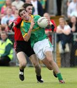 7 July 2007; Brian Farrell, Meath, in action against Adrian Scullion, Down. Bank of Ireland All-Ireland Senior Football Championship Qualifier, Round 1, Down v Meath, Pairc Esler, Newry, Co. Down. Picture credit: Oliver McVeigh / SPORTSFILE