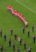28 September 2014; The Cork squad stand for the national anthem played by the Artane Band. TG4 All-Ireland Ladies Football Senior Championship Final, Cork v Dublin. Croke Park, Dublin. Picture credit: Ray McManus / SPORTSFILE