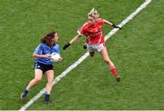 28 September 2014; Siobhán McGrath, Dublin, in action against Orla Finn, Cork. TG4 All-Ireland Ladies Football Senior Championship Final, Cork v Dublin. Croke Park, Dublin. Picture credit: Ray McManus / SPORTSFILE