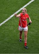 28 September 2014; Cork's Bríd Stack celebrates after the game. TG4 All-Ireland Ladies Football Senior Championship Final, Cork v Dublin. Croke Park, Dublin. Picture credit: Ray McManus / SPORTSFILE
