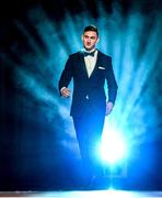 24 October 2014; Kerry's James O'Donoghue walks out to receive his Footballer of the Year award at the 2014 GAA GPA All-Star Awards, sponsored by Opel. Convention Centre, Dublin. Picture credit: Brendan Moran / SPORTSFILE