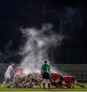 5 December 2014; Steam rises from a scrum between the Munster A and Worcester Warriors players. British & Irish Cup Round 5, Munster A v Worcester Warriors. Cork Institute of Technology, Cork. Picture credit: Matt Browne / SPORTSFILE
