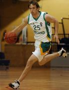 27 July 2007; Ian O'Boyle, Ireland. Men's Senior International Basketball Friendly, Ireland v Luxembourg, National Basketball Arena, Tallaght, Dublin. Picture credit: Pat Murphy / SPORTSFILE