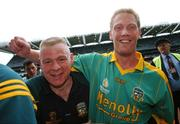 4 August 2007; Meath's Graham Geraghty with selector Tommy Dowd after the match. Bank of Ireland Football Championship Quarter Final, Tyrone v Meath, Croke Park, Dublin. Picture Credit; Brian Lawless / SPORTSFILE