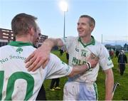 7 December 2014; Ballyhale Shamrocks' Henry Shefflin, right, celebrates with James Cha Fitzpatrick at the end of the game. AIB Leinster GAA Hurling Senior Club Championship Final, Ballyhale Shamrocks v Kilcormac Killoughey, O'Moore Park, Portlaoise, Co. Laois. Picture credit: David Maher / SPORTSFILE