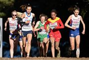 14 December 2014; Ireland's Fionnuala Britton, third from left, competes alongside, from left, eventual race winner Great Britain's Gemma Steel, France's Sophie Duarte, Spain's Trihas Gebre,and Great Britain's Kate Avery, during the Women's race. Spar European Cross Country Championships, Samokov, Bulgaria. Picture credit: Ramsey Cardy / SPORTSFILE