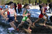 14 December 2014; Ireland's Fionnuala Britton, centre, and Great Britain's Kate Avery, left, during the Women's race. Spar European Cross Country Championships, Samokov, Bulgaria. Picture credit: Ramsey Cardy / SPORTSFILE