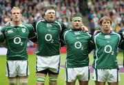 11 August 2007; Paul O'Connell, Malcolm O'Kelly, Bryan Young, and Jerry Flannery, Ireland. Rugby World Cup Warm Up Game, Scotland v Ireland, Murrayfield, Scotland. Picture credit; Oliver McVeigh / SPORTSFILE