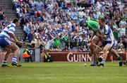 12 August 2007; Brian Begley, Limerick, is tackled by Ken McGrath, Waterford, which resulted in a penalty for Limerick. Guinness All-Ireland Senior Hurling Championship Semi-Final, Limerick v Waterford, Croke Park, Dublin. Picture credit; Caroline Quinn / SPORTSFILE