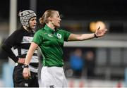 13 December 2014; Referee Helen O'Reilly. Women's AIL Division 1 Final, Old Belvedere v Blackrock. Donnybrook Stadium, Donnybrook, Dublin.  Picture credit: Piaras Ó Mídheach / SPORTSFILE