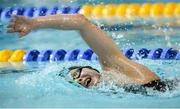 14 December 2014; Antoinette Neamt, Tallaght Swimming Club, on her way to setting a new Irish record in the Womens 1500m Freestyle final during Day 3 of the Irish Short Course Swimming Championships. Lagan Valley LeisurePlex, Lisburn, Co. Antrim. Picture credit: Oliver McVeigh / SPORTSFILE