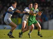 14 December 2014; Niall Darby, Rhode, in action against Diarmuid Connolly, left, and Ciaran Dorney, St Vincent's. AIB Leinster GAA Football Senior Club Championship Final, Rhode v St Vincent's, Pairc Táilteann, Navan, Co. Meath. Picture credit: Pat Murphy / SPORTSFILE