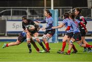 13 December 2014; Sheena Moore, Old Belvedere, is tackled by Jeamie Deacon, Blackrock. Women's AIL Division 1 Final, Old Belvedere v Blackrock. Donnybrook Stadium, Donnybrook, Dublin.  Picture credit: Piaras Ó Mídheach / SPORTSFILE