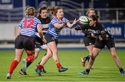 13 December 2014; Katie Fitzhenry, Blackrock, supported by team-mate Jeamie Deacon, 12, in action against Nora Stapleton, Old Belvedere. Women's AIL Division 1 Final, Old Belvedere v Blackrock. Donnybrook Stadium, Donnybrook, Dublin.  Picture credit: Piaras Ó Mídheach / SPORTSFILE