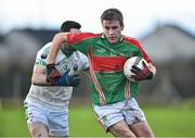 21 December 2014; John McGrath, Loughmore-Castleiney, in action against Gerald Hally, Cahir. Tipperary Senior Football Championship Final, Loughmore-Castleiney v Cahir, Leahy Park, Cashel, Co. Tipperary. Picture credit: Matt Browne / SPORTSFILE