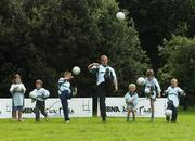 15 August 2007; Mayo footballer and last years winner Fintan Ruddy in action at the launch of the MBNA Kick Fada 2007. The MBNA Kick Fada competition, tests the abilities of the countries best footballers to kick for distance and accuracy. Over 20 stars of Gaelic Football will compete for the prestigious All-Ireland title at the 8th annual MBNA Kick Fada competition, which will take place on Saturday, September 8th at Bray Emmets GAA Club, Bray, Co. Wicklow. Herbert Park Hotel, Ballsbridge, Dublin. Picture credit: Pat Murphy / SPORTSFILE