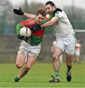 26 December 2014; Cian Hennessy, Loughmore-Castleiney, in action against Gerald Hally, Cahir. Tipperary Senior Football Championship Final Replay, Loughmore-Castleiney v Cahir, Leahy Park, Cashel, Co. Tipperary. Picture credit: Ray McManus / SPORTSFILE