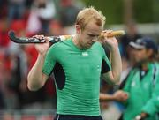 21 August 2007; Eugene Magee, Ireland, shows his disappointment after defeat to the Netherlands. 2007 EuroHockey Nations Championships, Mens, Pool B, Ireland v Netherlands, Belle Vue Hockey Centre, Kirkmanshulme Lane, Belle Vue, Manchester, England. Picture credit: Pat Murphy / SPORTSFILE