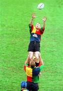 3 June 1999; Trevor Brennan takes the ball in the line-out during Ireland rugby squad training at Sydney Football Stadium in Sydney, Australia. Photo by Matt Browne/Sportsfile