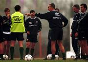 16 November 1999; Manager Mick McCarthy during a Republic of Ireland training session at Veledrom Stadium in Bursa, Turkey. Photo by Brendan Moran/Sportsfile *** Local Caption ***