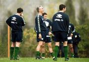 16 November 1999; Manager Mick McCarthy during a Republic of Ireland training session at Veledrom Stadium in Bursa, Turkey. Photo by Brendan Moran/Sportsfile