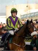 27 December 2014; Jockey Luke Dempsey, up on Zanouska ahead of the Paddy Power 'Number 1 For Live Streaming' 3-Y-O Maiden Hurdle. Leopardstown Christmas Festival, Leopardstown, Co. Dublin. Picture credit: Piaras Ó Mídheach / SPORTSFILE