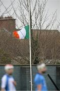 1 January 2015; The Tricolour is flown at half mast, in respect of the late Andy Kettle, Dublin County Board Chairman. Dublin v Dubs Stars - Herald / Dublin Bus Football Challenge 2015. Parnells GAA Club, Dublin. Picture credit: David Maher / SPORTSFILE