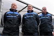 1 January 2015; New Dublin hurling manager Ger Cunningham, right, with selectors Shay Boland, centre, and Ken Robinson. Dublin v Dubs Stars - Herald / Dublin Bus Hurling Challenge 2015. Parnells GAA Club, Dublin. Picture credit: David Maher / SPORTSFILE