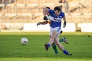 4 January 2015; Padraig McMahon, Laois, in action against William Mulhall, Offaly. Bord na Mona O'Byrne Cup, Group A, Round 1, Offaly v Laois. O'Connor Park, Tullamore, Co. Offaly. Picture credit: Barry Cregg / SPORTSFILE