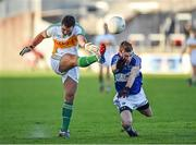 4 January 2015; William Mulhall, Offaly, in action against Adam Campion, Laois. Bord na Mona O'Byrne Cup, Group A, Round 1, Offaly v Laois. O'Connor Park, Tullamore, Co. Offaly. Picture credit: Barry Cregg / SPORTSFILE