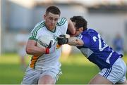 4 January 2015; Nigel Dunne, Offaly, in action against Padraig McMahon, Laois. Bord na Mona O'Byrne Cup, Group A, Round 1, Offaly v Laois. O'Connor Park, Tullamore, Co. Offaly. Picture credit: Barry Cregg / SPORTSFILE