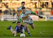 4 January 2015; Matt Campion, Laois, in action against Joseph O'Connor, Offaly. Bord na Mona O'Byrne Cup, Group A, Round 1, Offaly v Laois. O'Connor Park, Tullamore, Co. Offaly. Picture credit: Barry Cregg / SPORTSFILE