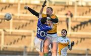 4 January 2015; Alan Mulhall, Offaly, with support from team-mate Paul McConway in action against Matt Campion, Laois. Bord na Mona O'Byrne Cup, Group A, Round 1, Offaly v Laois. O'Connor Park, Tullamore, Co. Offaly. Picture credit: Barry Cregg / SPORTSFILE