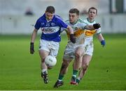 4 January 2015; Nigel Murphy, Laois, in action against Ruarai Allen, Offaly. Bord na Mona O'Byrne Cup, Group A, Round 1, Offaly v Laois. O'Connor Park, Tullamore, Co. Offaly. Picture credit: Barry Cregg / SPORTSFILE