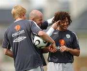 5 September 2007; Republic of Ireland's Stephen Hunt, right, with his team-mates Lee Carsley, centre, and Paul McShane during squad training. Republic of Ireland Squad Training, Gannon Park, Malahide, Co. Dublin. Picture credit; David Maher / SPORTSFILE