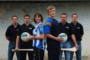 6 September 2007; The GPA announced its new GPA Associate Membership scheme which will enable all GAA players, club member, supporters/fans and officials to become part of the GPA network. The aim of the scheme is to broaden the appeal and scope of the Players Association and, in particular, to strengthen the bond between club and county. At the announcement are, from left, Secretary of the GPA Kieran McGeeney, Dublin hurler Kevin Flynn, Ballyboden St. Enda's footballer Aisling Farrelly, Na Fianna footballer Eoin Rutledge, Kilkenny hurler Eddie Brennan, and Cork footballer James Masters. Gaelic Players Association Press Conference, Jurys Croke Park Hotel, Croke Park Stadium, Jones Road, Dublin. Picture credit: Brian Lawless / SPORTSFILE