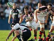 8 September 2007; Kieran Campbell gets the Ulster backline moving against Gloucester. Pre-season friendly, Ulster Rugby v Gloucester Rugby, Ravenhill Park, Belfast, Co. Antrim. Picture Credit; John Dickson / SPORTSFILE