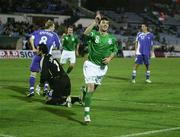 8 September 2007; Stephen Ireland celebrates scoring the first Republic of Ireland goal. 2008 European Championship Qualifier, Slovakia v Republic of Ireland, Slovan Stadion, Tehelné Pole, Bratislava, Slovakia. Picture credit; David Maher / SPORTSFILE