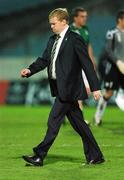 8 September 2007; A dejected Republic of Ireland manager Steve Staunton at the end of the game. 2008 European Championship Qualifier, Slovakia v Republic of Ireland, Slovan Stadion, Tehelné Pole, Bratislava, Slovakia. Picture credit; David Maher / SPORTSFILE