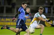 7 January 2015; Nicky Devereux, Dublin, in action against Declan Hogan, Offaly. Bord na Mona O'Byrne Cup, Group A, Round 2, Dublin v Offaly, Parnell Park, Dublin. Picture credit: Pat Murphy / SPORTSFILE