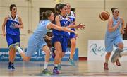10 January 2015; Aine McKenna, Team Montenotte Hotel Cork, is dispossessed by Fionnuala Toner, DCU Mercy. Basketball Ireland Women's National Cup, Semi-Final, Team Montenotte Hotel Cork v DCU Mercy, Neptune Stadium, Cork. Picture credit: Brendan Moran / SPORTSFILE